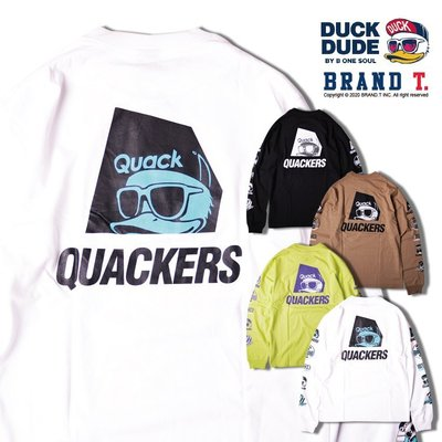 【Brand T】免運 達酷鴨 DUCK DUDE DD PLAYA L/S TEE DJ*鴨子*LOGO*薄長T*4色