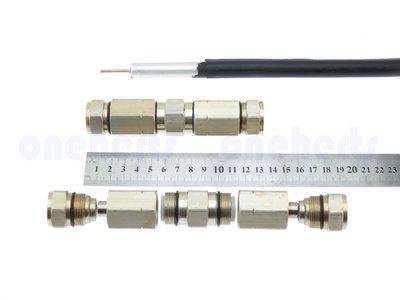 萬赫 K500D P3 500半英吋鋁管線雙接頭 500鋁管線主幹線雙接頭 有線電視 CATV 雙接頭 RF接頭