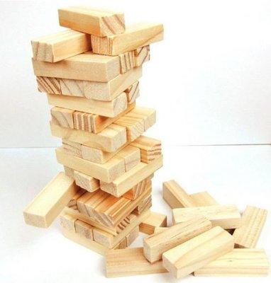 兒童木製益智玩具-精品小號原木色疊疊高...
