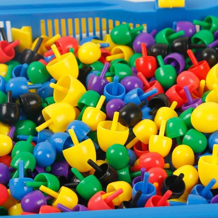 創意蘑菇釘拼插板組合DIY蘑菇丁手工制作拼圖兒童插珠益智玩具WY