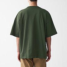 *一元起標無底價*全新真品MUJI無印良品2020年型男當季款緊密編織針織寬鬆剪裁軍綠色輕鬆保養針織短袖T恤/S~M號