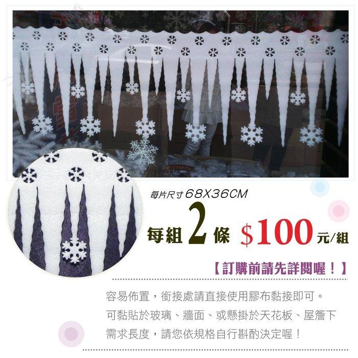 雪景裝飾冰條 2片一組 櫥窗居家布置 牆壁裝飾片 活動佈置 聖誕燈  聖誕樹 聖誕特區
