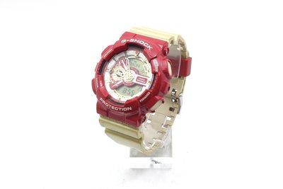 【台中青蘋果】Casio GA-110CS 紅金色 鋼鐵人配色 指針 數位 二手 手錶 #52278