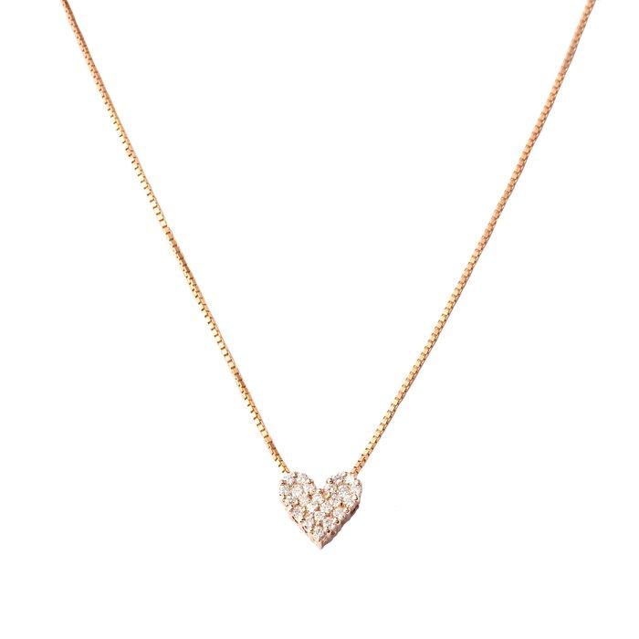 【JHT金宏總珠寶/GIA鑽石專賣】0.20ct天然鑽石項鍊/材質:750(JB52-A22)