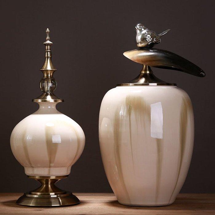 〖洋碼頭〗歐式陶瓷擺件新古典裝飾品擺設插花酒櫃玄關飾品美式創意儲物罐 ysh168