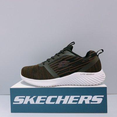 SKECHERS BOUNDER 男生 黑咖啡色 寬楦 鬆緊帶 慢跑鞋 52504WCHOC