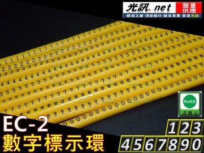 [ 光訊 任選500PCS ] EC-2 配線標誌環 英文 號碼環 數字環 適 大同 CAT.5e CAT.6 PE FTP SFTP 網路線