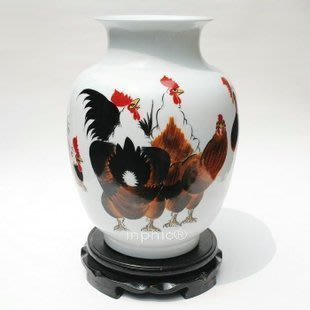 INPHIC-ZF-A046 景德鎮粉彩 手繪陶瓷花瓶 吉祥圖 工藝品收藏