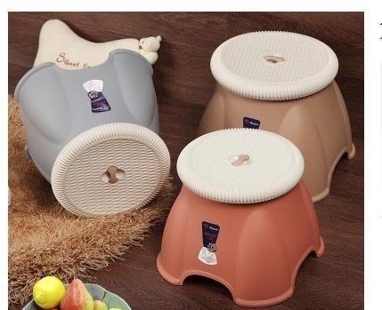 現貨/小凳子家用加厚塑料兒童椅子浴室防滑小板凳成人換鞋凳子時尚創意172SP5RL/ 最低促銷價
