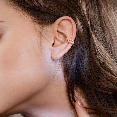 SWEET COVE~2021新款金色超閃氣質小眾耳夾耳骨夾女高級感法式水晶無耳洞復古