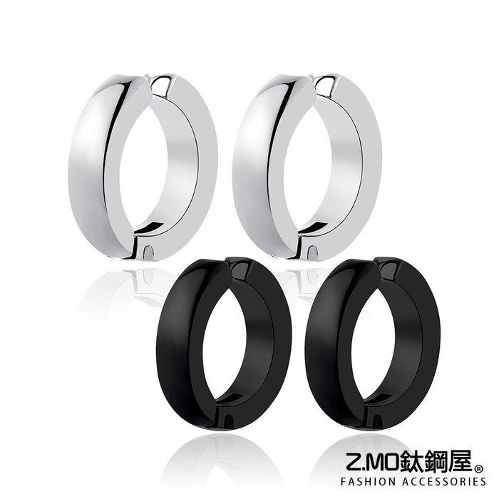 中性圓扣耳夾 帥氣個性風格 簡約設計 單個價【ECS096】Z.MO鈦鋼屋