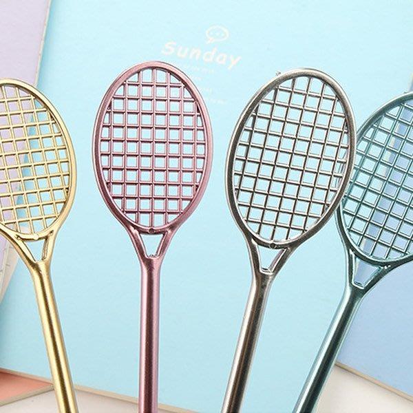 時尚金屬羽毛球拍造型 中性筆 『不挑款』【JC2649】《Jami》