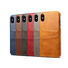 Apple Iphone Xs Max 特色 高級 小牛皮插卡 機殼 後殻 保護殼 case cover