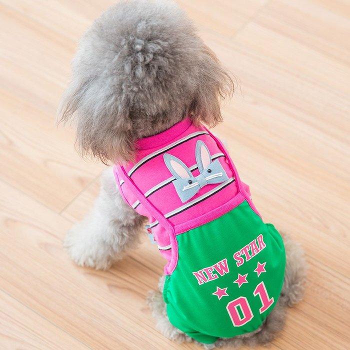 熱賣款--可愛兔子狗狗衣服泰迪比熊博美小狗貓咪寵物背帶褲小型犬幼犬秋裝#寵物用品#衣服#時尚#可愛