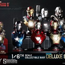 全新 Hot Toys Ironman 3 1/6 Collectible Bust Deluxe Set 半身像 胸像 Hottoys