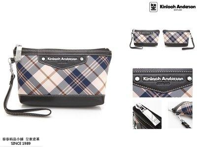 【寧寧精品*台中店】Kinloch Anderson 金安德森 KA151206BKF【頂級牛皮化妝包手拿包 黑色】1