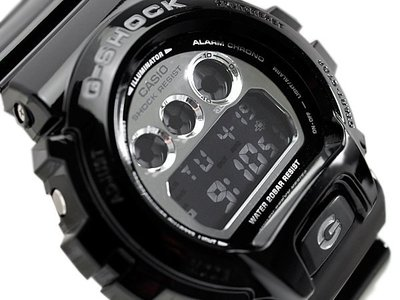 BEETLE PLUS 日本限定 CASIO G-SHOCK CRAZY COLOR DW-6900HM-1CR  金屬鏡面 霧面 電子 手錶 黑色