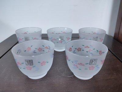 (日式生活用品)日本橘吉花卉紋冷茶杯一組(五入)(A404)