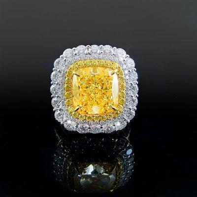 【LOVES鑽石批發】GIA證書 6.04克拉 天然黃色彩鑽戒指 Fancy Light Yellow 耀眼金黃/LOVES DIAMOND/婚戒 對戒 粉鑽