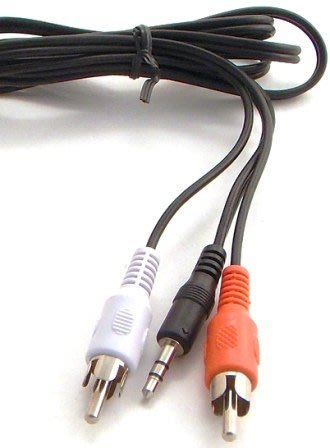 3.5mm公頭轉RCA蓮花公頭 轉接線 一分二RCA線 長1.5米 【A118】