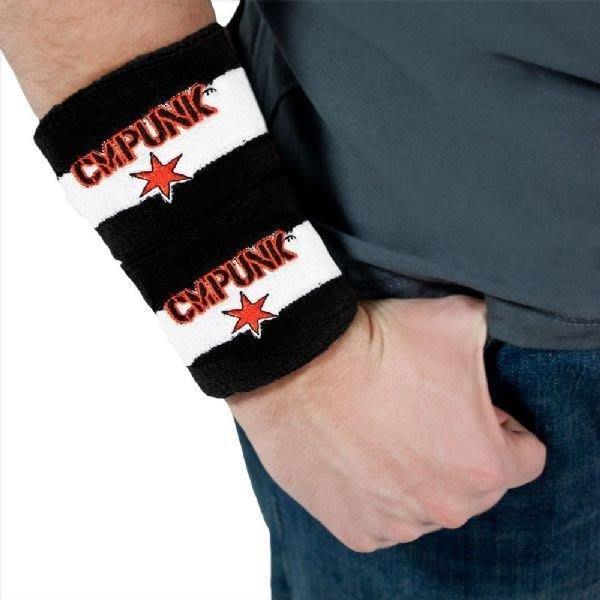 ☆阿Su倉庫☆WWE摔角 CM Punk Best in the World Wristbands 世界之最經典款護腕組