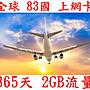 【杰元生活館】全球 83國 365日2GB流量  南...