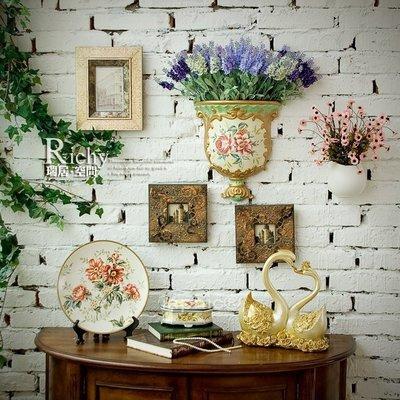 INPHIC-仿古歐式田園壁掛陶製花器 仿真花花瓶