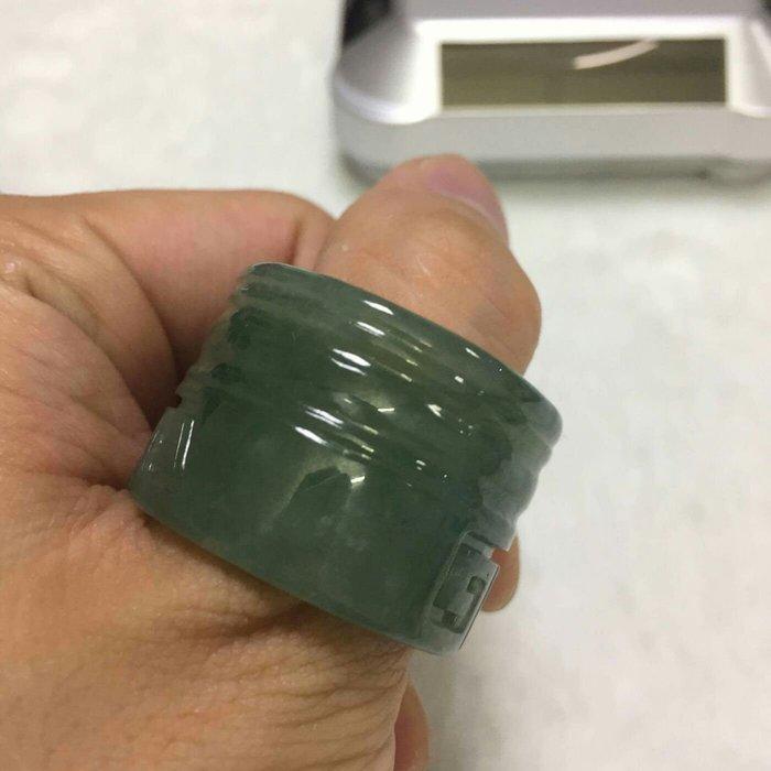 湖水綠/緬甸玉扳指