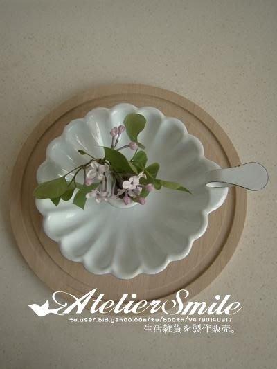 [ Atelier Smile ] 鄉村雜貨 復古作舊法式搪瓷花形蠟燭台 桌面裝飾小托盤 (現+預)