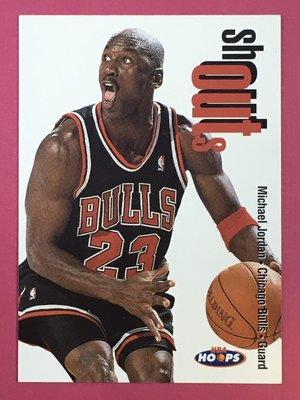 1998-99 SkyBox NBA Hoops Shout Outs #13 Michael Jordan Bulls