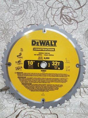 Dewalt 美國原廠 10吋 鋸片 16MM 內孔 厚木用 DW745 DWE7491RS  DWE7480 用
