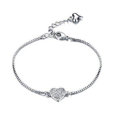 韓版時尚甜美手鍊氣質愛心滿天星鑲鑽女士手鍊小女生配飾N957