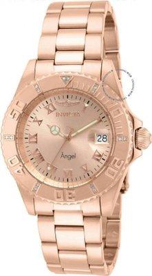 展示品 Invicta 14720 Rose Angel Genuine Diamond Accents Swiss Ronda Quartz Wom