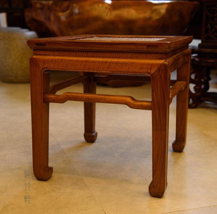 清代黃花梨藤編椅