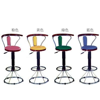【在地人傢俱】19 簡單購-850型核桃粉紅色/黃色/綠色/藍色吧台椅/升降椅/高餐椅 LC873-1