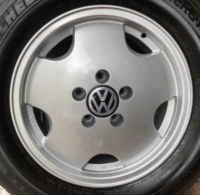 中古 福斯 VW 15吋鋁圈含胎 T4 VR6 Passat Golf Passat Caddy 五孔112