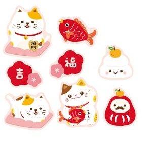 ☆╮Jessice 雜貨小鋪二館╭☆日日大吉貓 包裝 用品 禮品 貼紙 40枚/包$30