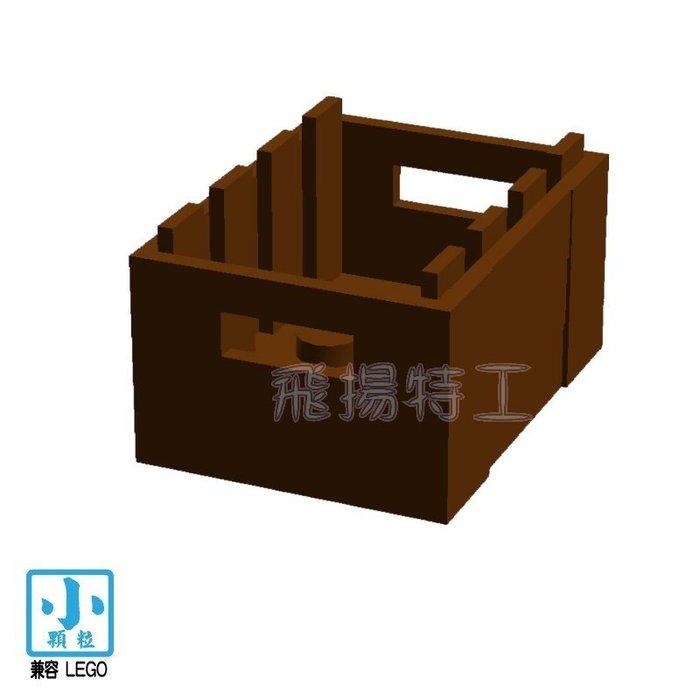 【飛揚特工】小顆粒 積木散件 物品 SRE440 木箱 箱子 彈藥箱 零件 配件(非LEGO,可與樂高相容)