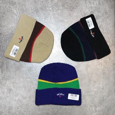 【Faithful】NOAH Uni-Stripe Beanie【H22FW19】針織毛帽 三色