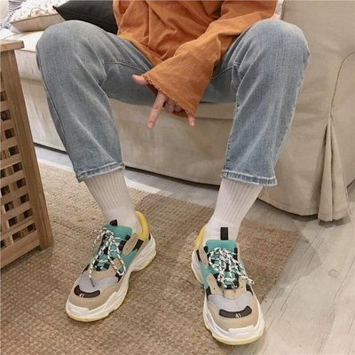 ins超火的鞋子2019新款網紅港風老爹運動鞋女韓版ulzzang原宿百搭 各種小禮物隨機送唷