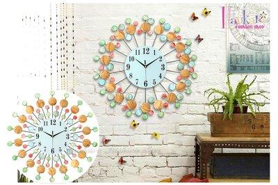 ☆[Hankaro]☆ 歐美流行創意鐵藝貝殼放射造型時鐘