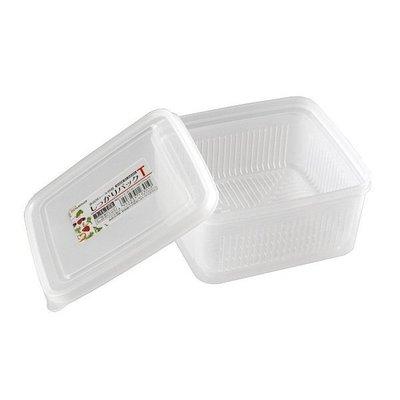 [霜兔小舖]日本代購 日本製 NAKAYA 可微波  方形瀝水 保鮮盒