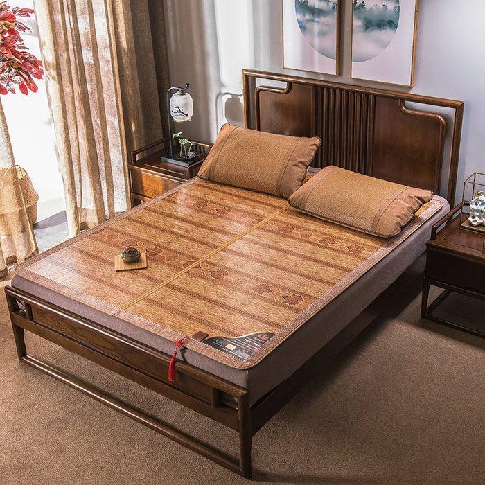 創意 夏季必備寢具夏季涼席竹席碳化竹涼席1.8m床折疊雙面雙人竹席子1.5米冰絲席子