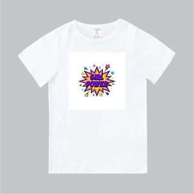 T365 MIT 親子裝 T恤 童裝 情侶裝 標語 話題 口號 標誌 美式風格 slogan GIRL POWER 女力