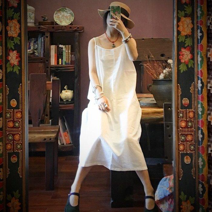 【子芸芳】原創百搭純棉布打底吊帶長裙襯裙