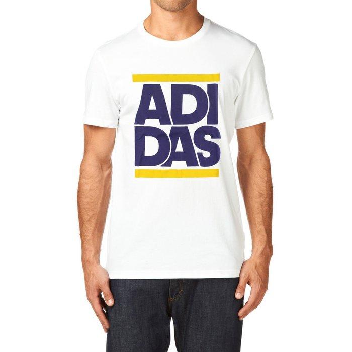 美國百分百【全新真品】Adidas 愛迪達 T恤 短袖 上衣 T-shirt 運動休閒 logo 白色 S號 G775