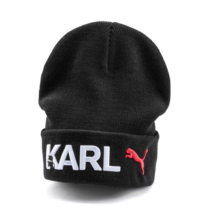 POMELO柚 PUMA KARL LOGO 毛帽 基本款 黑色 男女皆可 022421-01