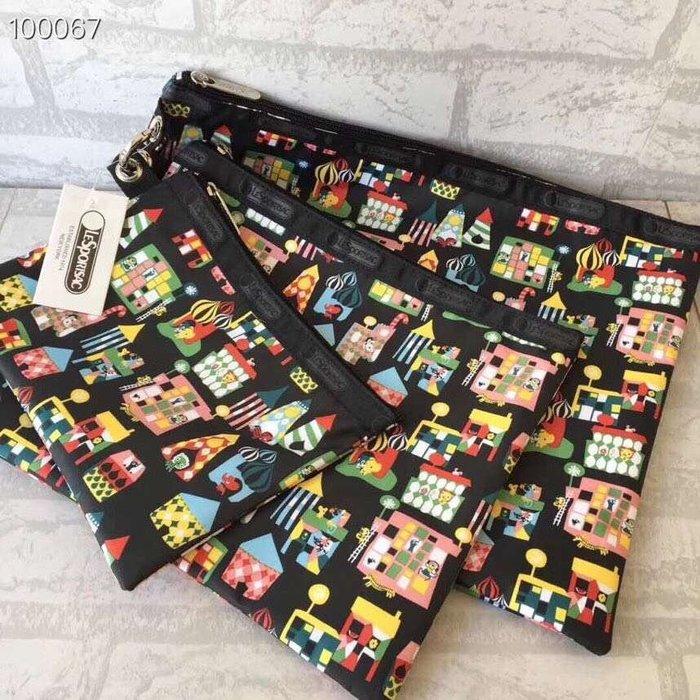 凱莉代購 Lesportsac 1460 三件套 手拿包 化妝包 零錢包 鑰匙包  預購