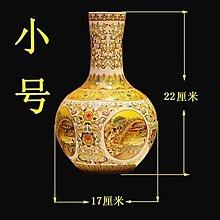 【幸運星】景德鎮 陶瓷 仿古 粉彩 清明上河圖 花瓶 賞瓶 裝飾擺件 裝飾品 風水擺件  A131-1
