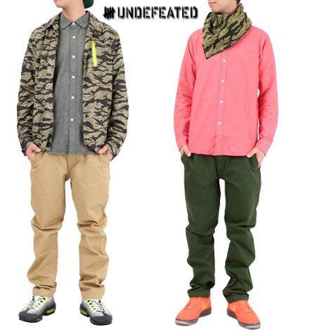【 超搶手 】全新正品 2013 S/S 春季 UNDEFEATED QUALITY CHINO 西裝 工作褲 卡其 軍綠 W30 W32 W34
